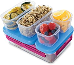 Rubbermaid LunchBlox Leak-Proof Entree Lunch Container Kit, Large, Beet Red