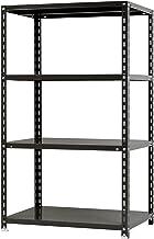 スチールラックのキタジマ NC-875-15 幅87.5×奥行45×高さ150cm 4段 ブラック 70kg/段