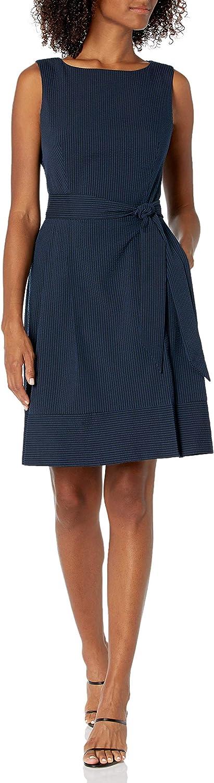 Anne Klein Women's Seersucker Fit & Flare Dress
