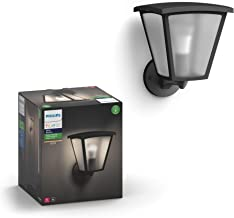Philips Hue Inara White Outdoor Lantern, Wall Fixture & 1 Hue White A19 LED Smart Bulb, Use with Alexa, Homekit & Google A...