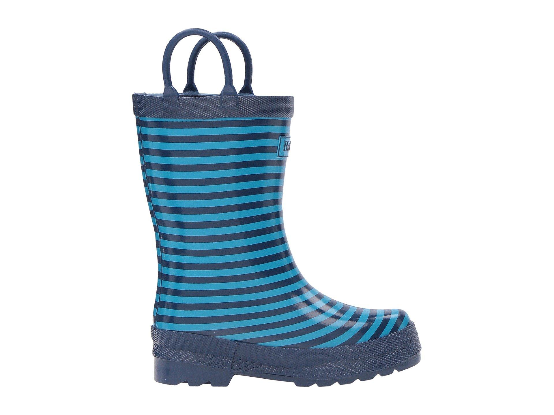 Hatley Kids Navy Striped Rain Boots (Toddler/Little Kid ...