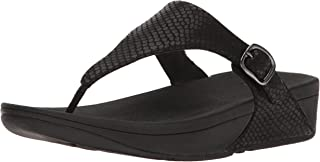 FitFlop Womens The Skinny Toe-Thong Snake Embossed Sandals