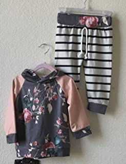Toddler girl sweat outfit