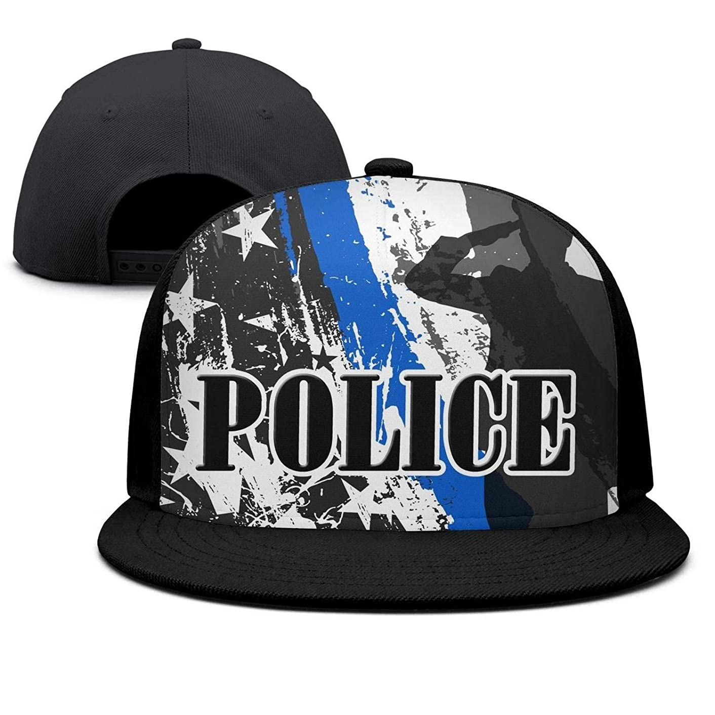 wasupyo Thin Blue line Police Flag Snapback Hats for Men Cool Baseball Cap