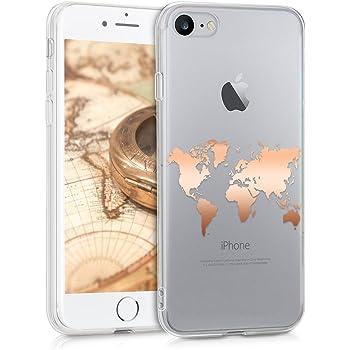 Oihxse Compatibile per iPhone 7 Case,iPhone 8 Cover Sottile e Leggera Silicone Trasparente Anti Scivolo Graffi Morbido TPU Design Creativo Cover iPhone 7 Cover iPhone 8 Crisantemo