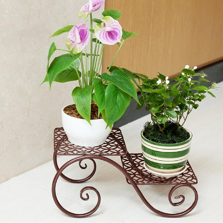 Wrought Iron Flower Shelf Balcony European Multi-Layer Floor Type Indoor Fleshy Flower Stand Green Planter Rack 2