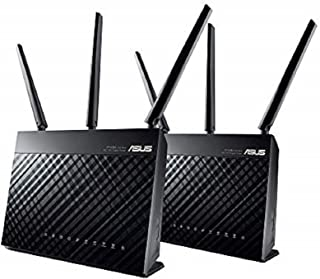 ASUS RT-AC68U AC1900 Dual-Band Mesh Wi-Fi System 2 Pack Wireless Router, Access Point Mode, Gigabit, Twin USB 3.0 for Medi...
