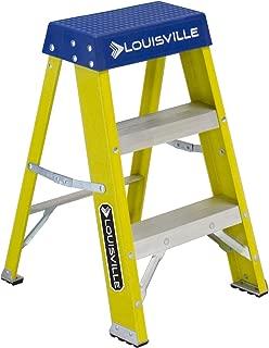 Louisville Ladder FS2002 2 Stepladder, 250-Pound Duty Rating Fiberglass Ladder, 2-Feet, Yellow Stepladder