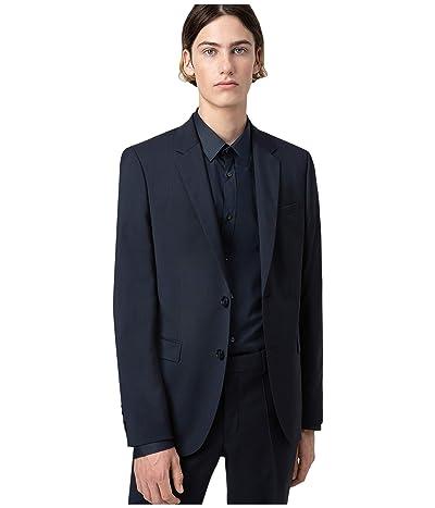 BOSS Hugo Boss Aldons Extra-Slim Fit Wool Jacket By HUGO (Dark Blue) Men