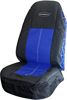 Highback COVERALLs Seat Cover - Black/Blue