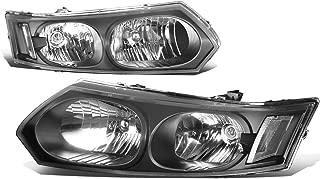 For Saturn Ion 4-Dr Sedan Pair of Black Housing Clear Corner Headlights Lamp