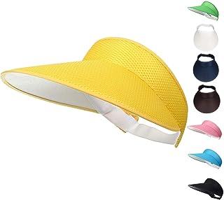 32bfbe6f7b1d5 Woopoo Clip on Visors Multicolor Sun Visors for Women Suns creen Visor Clip  on Sweat-