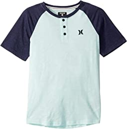 Marled Raglan Short Sleeve T-Shirt (Big Kids)