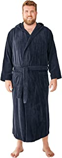 Men's Big & Tall Terry Velour Hooded Maxi Robe