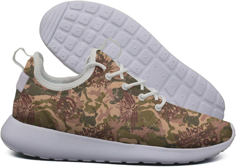Hoohle Sports Womens Art Cactus Design Flex Mesh Roshe 2 Lightweight Soft Road Running shoes