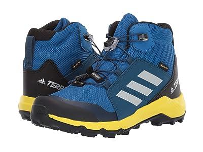 adidas Outdoor Kids Terrex Mid GTX (Little Kid/Big Kid) (Blue Beauty/Grey One/Shock Yellow) Boys Shoes