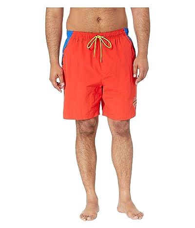 Nautica Big & Tall Big Tall Competition Swim Shorts (Firey Red) Men