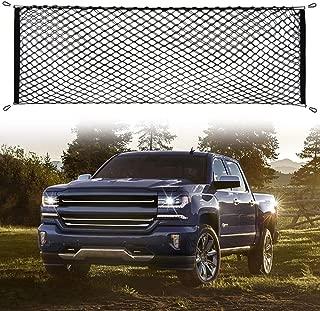 AndyGo Cargo Net Truck Bed Envelope Style Trunk Cargo Organizer Fit Chevy Silverado Colorado GMC Sierra