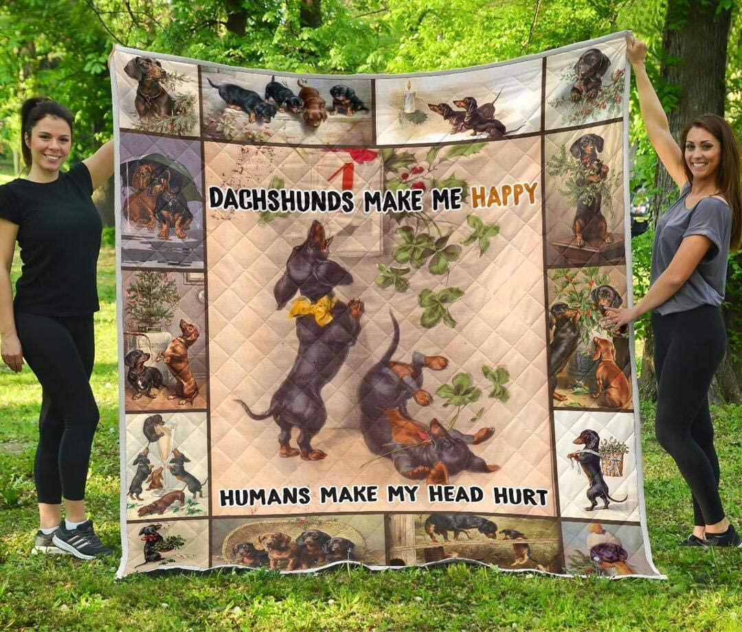 Personalized Dachshund Quilt Gift for Sets Your Genuine Lovers So 5 popular