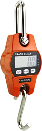 Outmate Mini Digital Crane Scale 300kg/600lbs with LED (Plastic Case)
