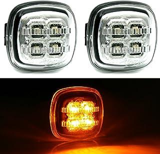 Teabelle 2PCS Luces de Se/ñal de Vuelta del Coche LED Indicador de Luz Intermitente Marcador Lateral Apto para BM-W E46 E60 E60 E90 E92