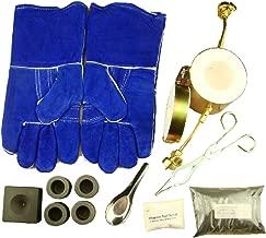 Propane Gas Furnace Kit Mini-Conical Mold, Kiln, Tips, 1lb Chapman Flux, Gloves, 4-Crucibles, Tongs