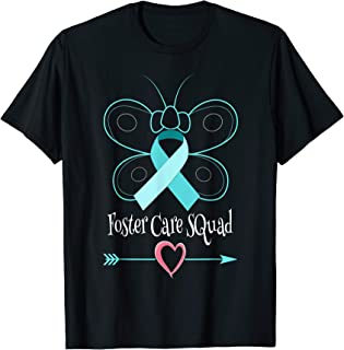 Butterfly Adoption Foster Care Ribbon Foster Care Awareness T-Shirt