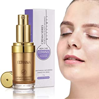 EDANNA Eye Cream Serum with Vitamin E 丨CoenzymeQ10 丨Anti-wrinkle Essence丨 Reduce Dark Circles Puffiness Fine Lines,0.53 Oz