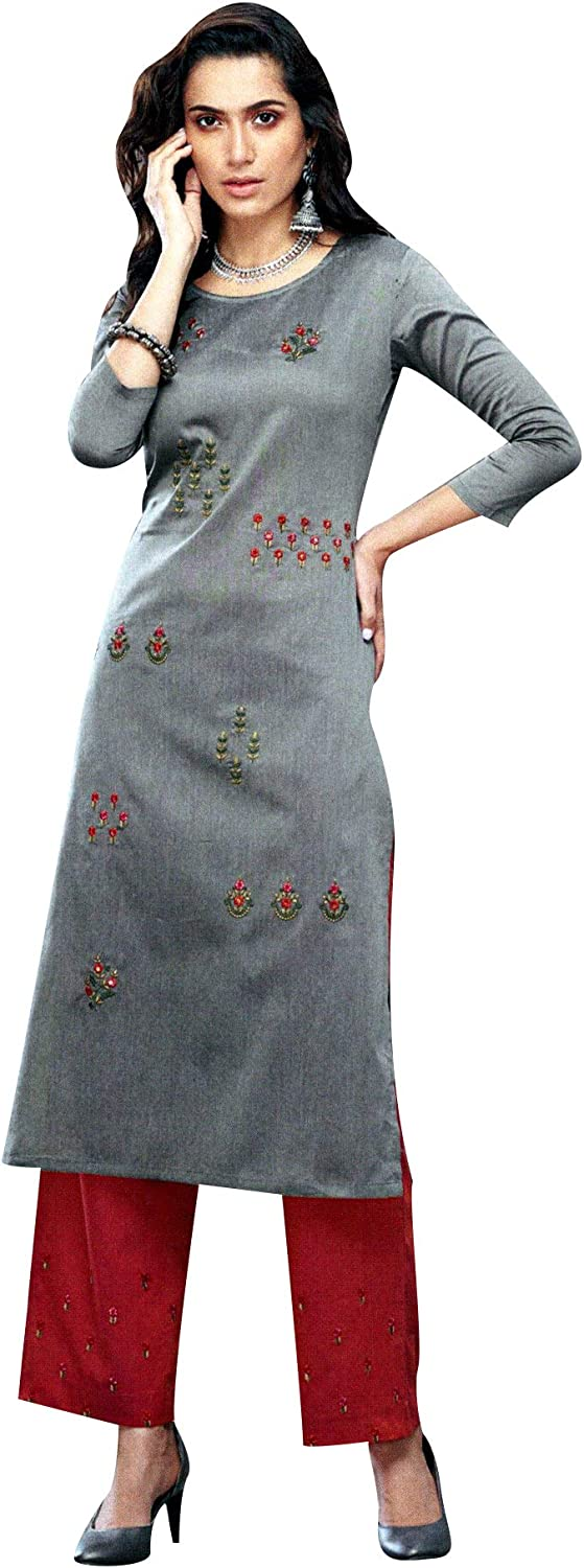 ladyline Kurtis for Colorado Springs Mall Women with Sales results No. 1 Silk Set Pants Kurta Embroidered