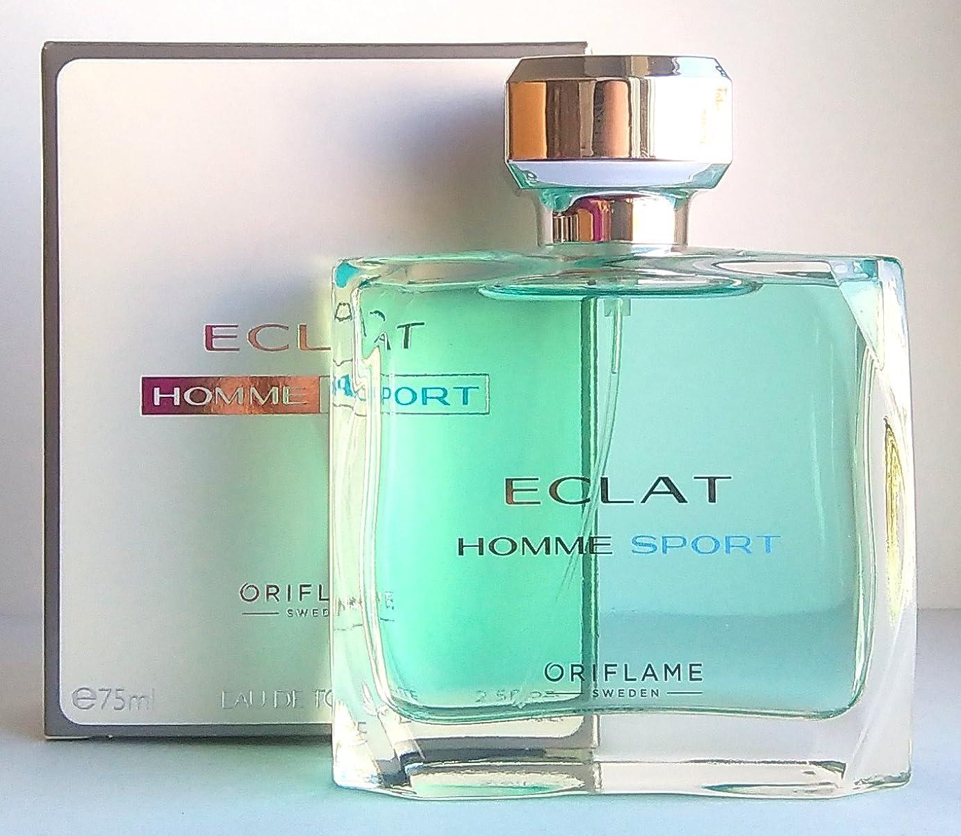 相対サイズペースト手足ORIFLAME Eclat Homme Sport Eau de Toilette For Him 75ml - 2.5oz
