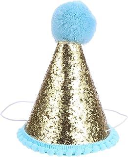 POPETPOP 誕生日ハット HAPPY BIRTHDAY バースデー帽子 王冠 三角帽子 クラウン 誕生日 飾り 撮影 パーティー小物 大人 子ども兼用