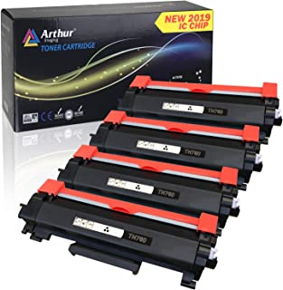 Arthur Imaging with CHIP Compatible Toner Cartridge Replacement for Brother TN760 TN 760 TN730 to Use with HL-L2350DW HL-L2395DW Hl-L2390DW Mfc-L2750DW L2710DW DCP-L2550DW (Black, 4 Pack)