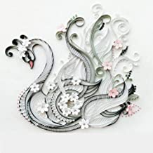 Colorful Quilling Paper Craft Kits set Tool Rolling Strips DIY Collection Home Decoration Crafts Material Package Beginner Learning Tool (Swan)