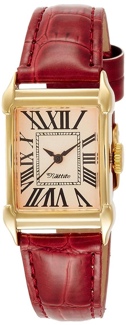 健全短命記事[フィールドワーク] 腕時計 アナログ グル 革ベルト FSC098-3 レディース レッド