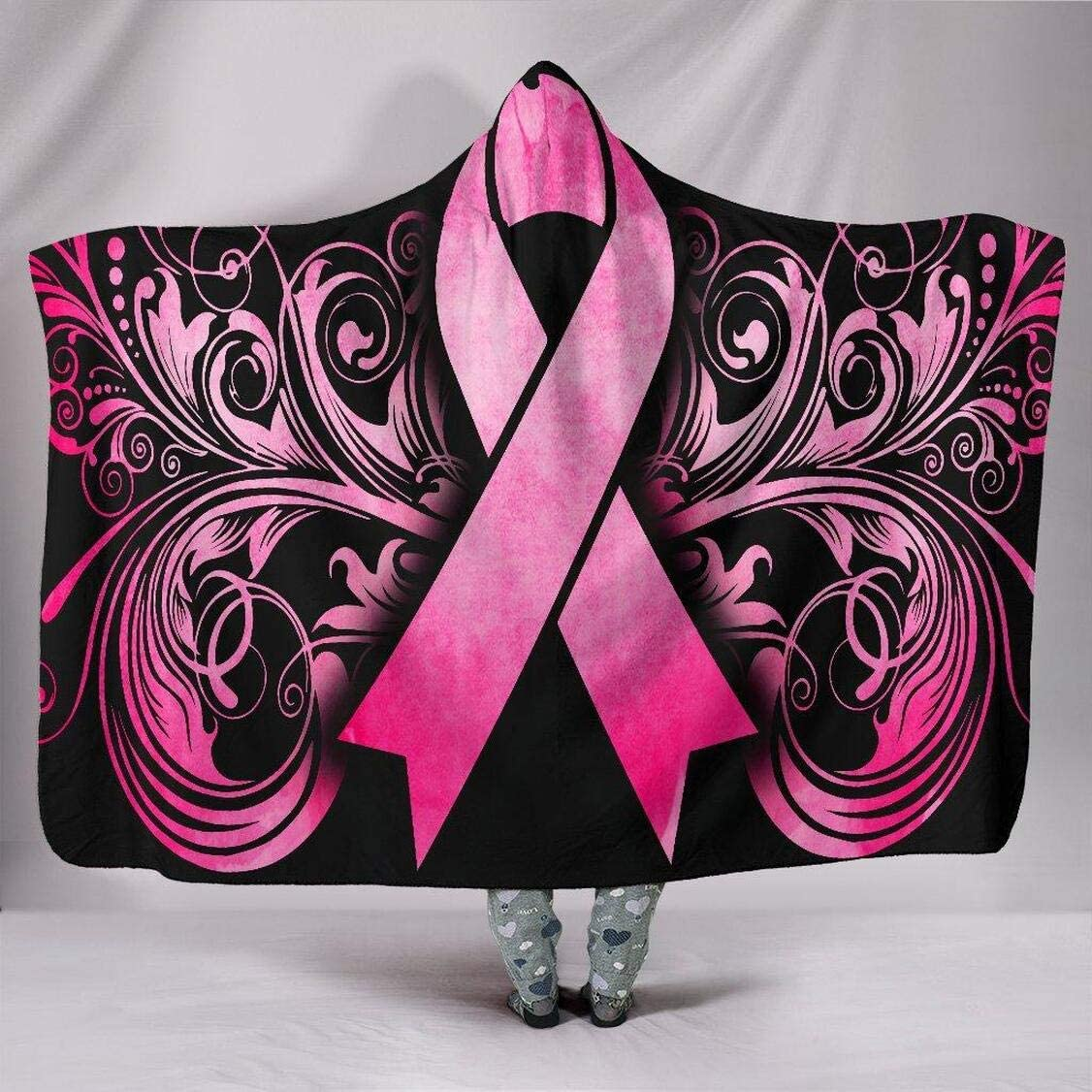 Personalized Breast Cancer Awareness - Portland Mall Blanket Hooded 2021 model Bla