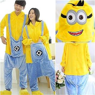7°MR Pijama Adulto Unisex Pijamas Femeninas Conjunto de Pijamas Lindos Pijamas Set Female Winter Cuero Pijamas Pijamas Home Service (Color : Minions, Size : X-Small)