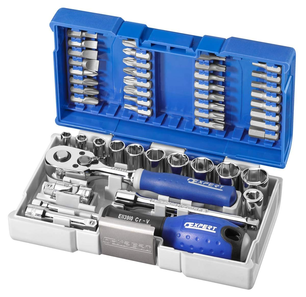 EXPERT by Facom e030729 - Juego de llaves de carraca y llaves de vaso y puntas 1/4: Amazon.es: Bricolaje y herramientas