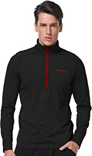 Men's 1/4 Zip Lightweight Pullover Long Sleeve Full Zip Running Shirts Thermal Workout Golf Tops Athletic Jogging Jacket