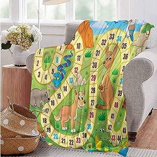 Chrismas Blanket,Blanket for Women Silky Soft Plush Blanket Double Print Board Game Australia Fun Wildlife Improving Sleep All Season Use 91