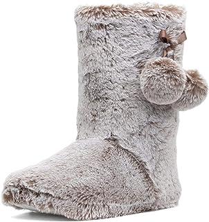 The Slipper Company Womens Mink Faux Boot Slipper