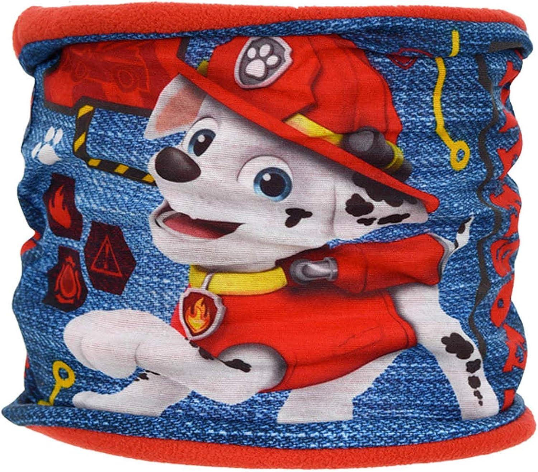 Paw Patrol /Écharpe tubulaire Snood pour enfant gar/çon Rouge Bleu