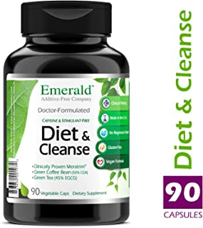 Diet & Cleanse - with Meratrim®, Konjac Root, Green Coffee Bean & Garcinia Cambogia - Weight Loss Support, Helps Cleanse/Detoxify the Body - Emerald Laboratories (Rainforest) - 90 Vegetable Capsules