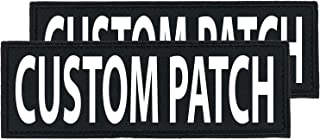 101 Outlets Dogline Custom Bright White Text Patch for Vest Harness Or Collar Customizable Text Personalized Patches with Hook Backing Name Service Dog in Training Emotional Support