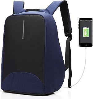 Mochila antirrobo, de Coolbell, para portátil de 15,6pulgadas, con puerto de carga USB, impermeable, ligera, para hombres y mujeres azul azul 15,6 pulgadas