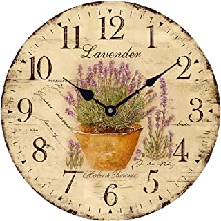 Wood Wall Clock 12 Inch Vintage