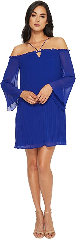 CeCe Ella Off Shoulder Pleated Dress