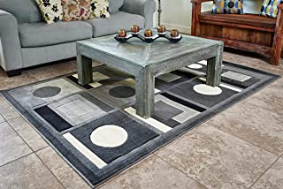 Cosy House Collection Area Rugs for Indoors - Large Rug for Living Room - Modern Abstract Style Home Decor | Resists Stains, Soil, Fading & Freying - Natural Jute | 5'2