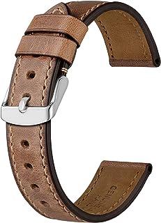 BISONSTRAP Cinturino per Orologio da Uomo 18mm 19mm 20mm 21mm 22mm 23mm 24mm, Cinturino di Ricambio in Pelle Vintage per O...