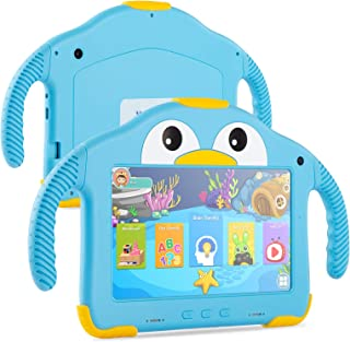 Tablet for Toddlers Tablet Android Kids Tablet with WiFi Dual Camera 1GB 16GB Storage 1024 x 600 IPS Screen Parental Contr...