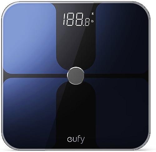 Eufy T9140011 Smart Fitness Scale Premium Design Black 30Cm X 30Cm Tiles
